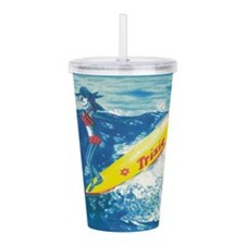 Fins On The Nose Acrylic Double-Wall Tumbler