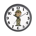 Male African American Army Clock
