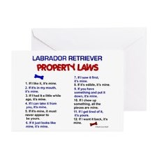Labrador Retriever Property Laws 3 Greeting Cards