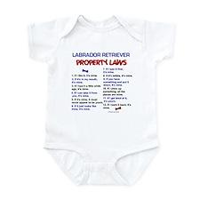 Labrador Retriever Property Laws 3 Infant Bodysuit