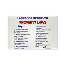 Labrador Retriever Property Laws 3 Rectangle Magne