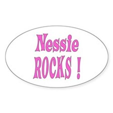 Nessie - Pink Oval Decal