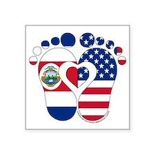 """Costa Rican American Baby Square Sticker 3"""" x 3"""""""