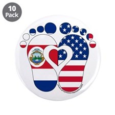 """Costa Rican American Baby 3.5"""" Button (10 pack)"""