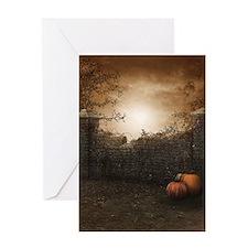 Autumn Stone Fence Greeting Card