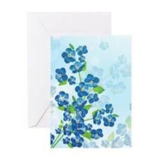 Forget Me Not Flowers Greeting Card