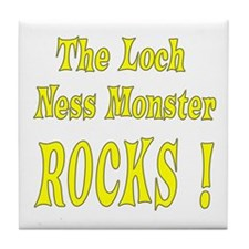 Loch Ness - Yellow Tile Coaster