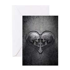 Gothic Skull Heart Greeting Card