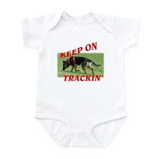 GSD tracking dog Infant Bodysuit