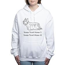 Skye Terrier. Custom Text Women's Hooded Sweatshir