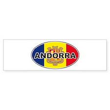 andorra2-flag-oval Bumper Bumper Sticker