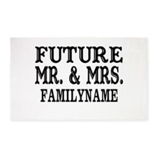 Future Mr. and Mrs. Personalized 3'x5' Area Rug
