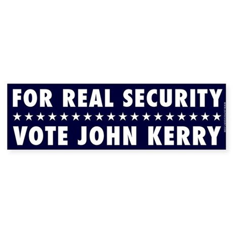 For Real Security Bumpersticker