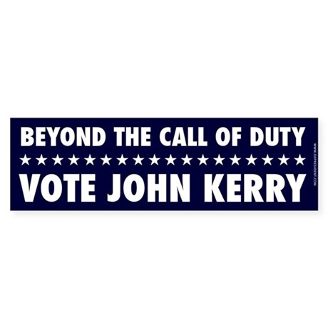 Beyond the Call of Duty Bumpersticker