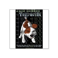 "Funny Jack russell terriers Square Sticker 3"" x 3"""