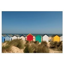 Traditional Beach Huts In The Sand Dunes At Southw