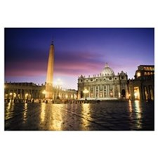 Nightfall At The Square At St. Peter's. The Vatica