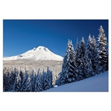 Winter Snow Over The Cascade Range; Mount Hood, Or