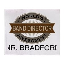 Awesome Band Director Throw Blanket