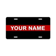 Personalized Firefighter Aluminum License Plate