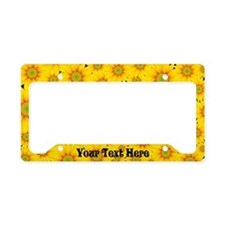Daisy Sunflower Custom License Plate Holder