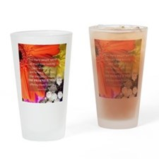 Flower - Quote Drinking Glass