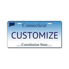 Connecticut Custom Aluminum License Plate