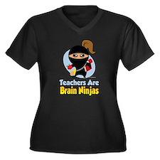 Teachers-Are-Brain-Ninjas Plus Size T-Shirt