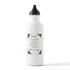 Christmas Math Water Bottle