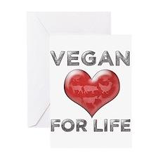 Vegan For Life Greeting Card