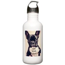 Get Well Soon French Bulldog Water Bottle