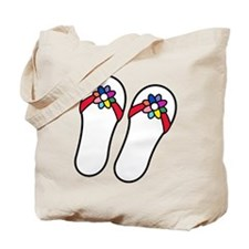 Flip Flops With Flowers Tote Bag
