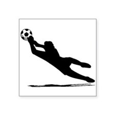 Soccer Goalie Silhouette Sticker