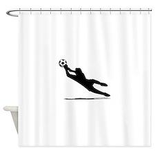 Soccer Goalie Silhouette Shower Curtain
