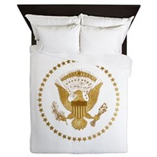 Gold Presidential Seal Queen Duvet