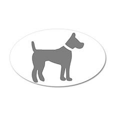 dog gray 1C Wall Decal