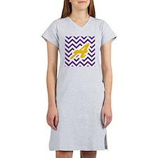 Purple Chevron Dark Gold A Women's Nightshirt