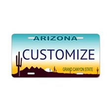 Arizona Custom Aluminum License Plate