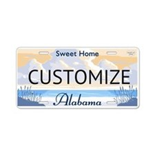 Alabama Custom Aluminum License Plate