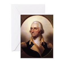 Portrait_of_George_Washington Greeting Cards