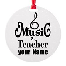 Music Teacher personalized Ornament