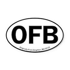 Ofb Crown Oval Car Magnet