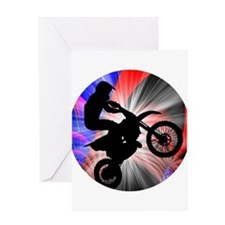 Motocross Going Loopy Greeting Cards