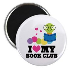 "Book Club Bookworm 2.25"" Magnet (10 pack)"