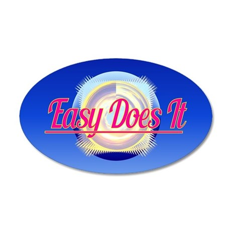 EASY DOES IT logo style Wall Decal
