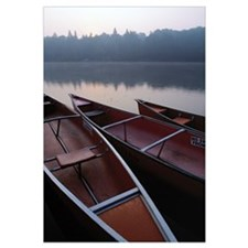 Canoes On Still Water