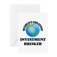 World's Greatest Investment Broker Greeting Cards
