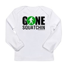 Gone Squatchin Black/Green Logo Long Sleeve T-Shir