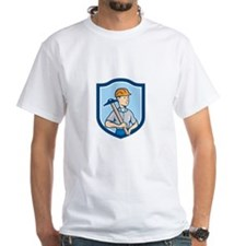 Engineer Architect T-Square Shield Cartoon T-Shirt