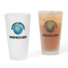 Cute Bodyguard training Drinking Glass